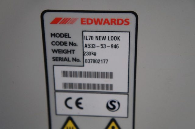 BOC Edwards IL 70 Semiconductor Dry Vacuum pump