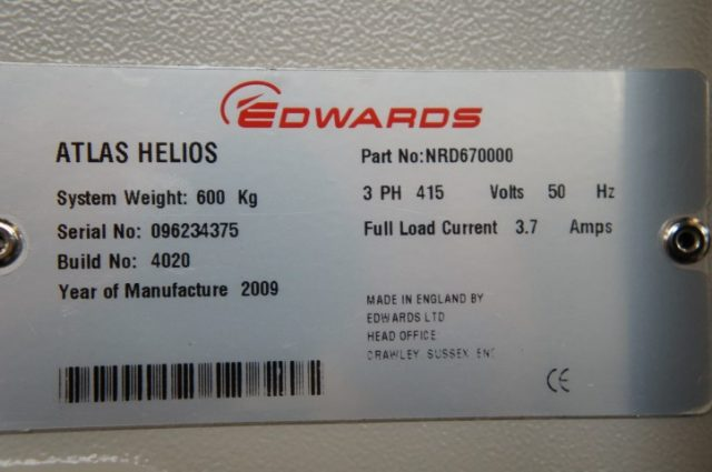 Edwards Atlas Helios Gas Abatement system