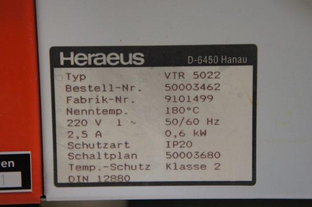 Heraeus VTR 5022 Vacuüm Oven