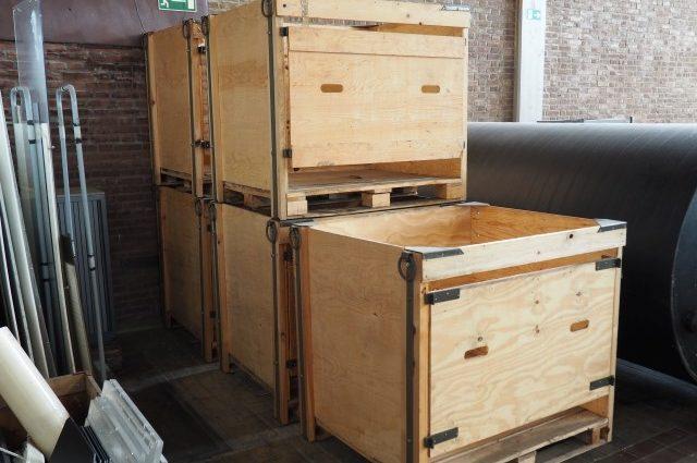 Stevige industriële Houten Kisten